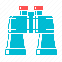 binoculars, research, search, view, zoom icon