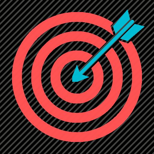 arrow, dartboard, goal, target icon