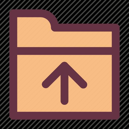 arrow, business, down, folder, upload icon