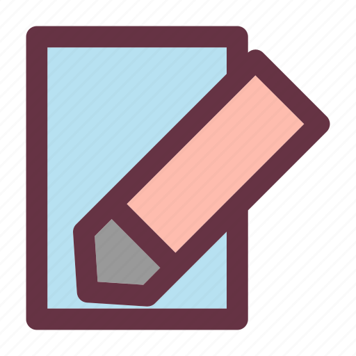 book, business, note, pen icon