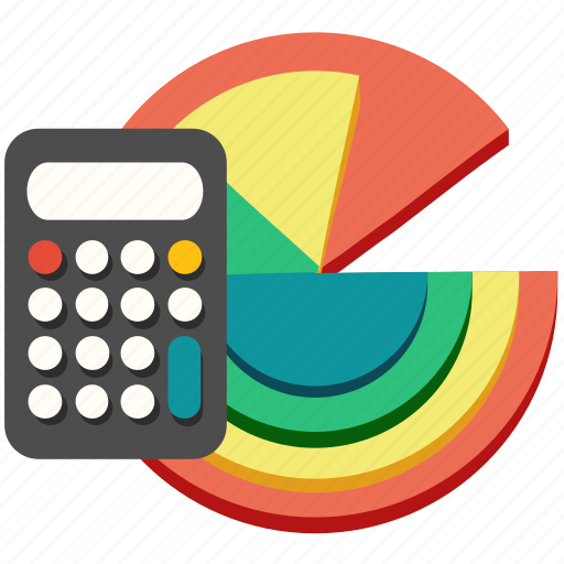 calculation, calculator, chart, finance, marketing, math, report icon