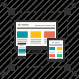 adaptive, computer, development, device, ipad, iphone, responsive icon