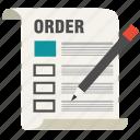 business, checklist, document, form, list, order, report