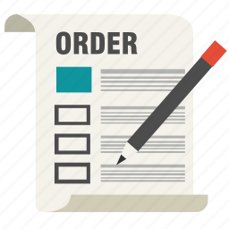 business, checklist, document, form, list, order, report icon