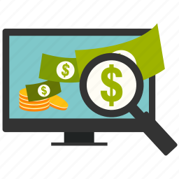 business, buy, marketing, money, monitor, search, shopping icon