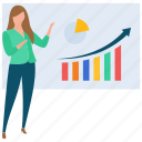 business presentation, employee presentation, graphical presentation, hr training, seminar, staff training icon
