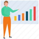 business presentation, employee presentation, graphical presentation, hr training, seminar, staff training, workshop icon