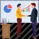 employee presentation, hr training, presentation, seminar, staff training icon