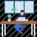 internet business, online assignment, online homework, online work, overseas work, remote job icon