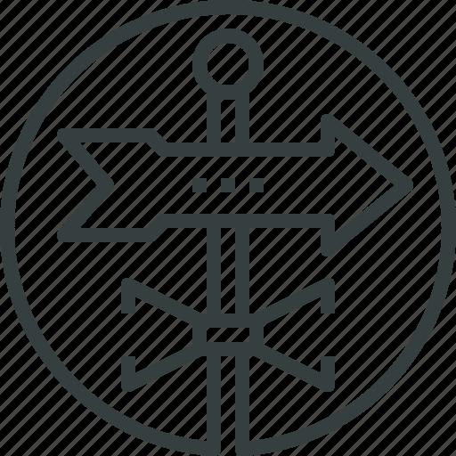 arrow, direction, forecast, vane, way, weather, windvane icon