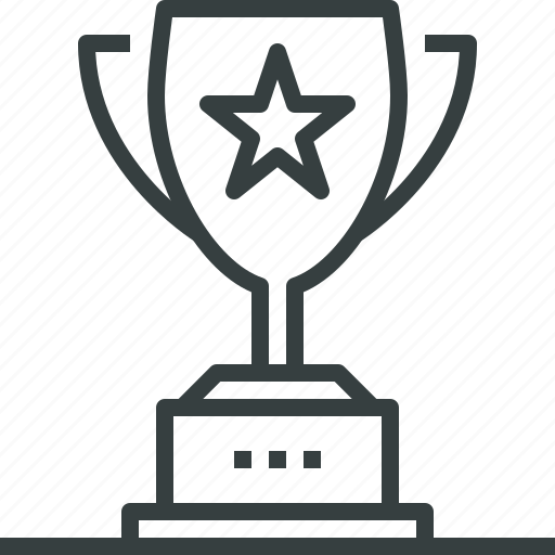 award, cup, goblet, gold, prize, trophy, win, winner icon