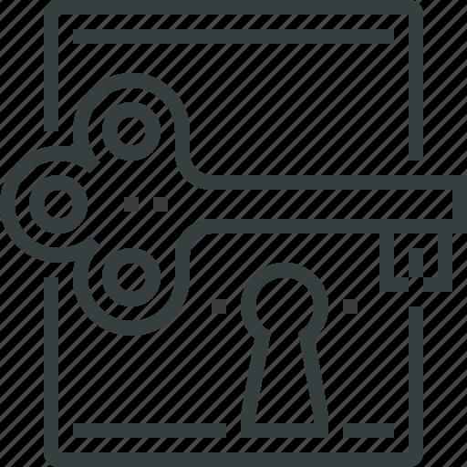 access, key, keylock, lock, open, private, success, unlock icon