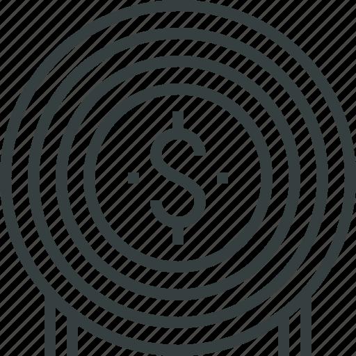 finance, goal, jackpot, market, money, target, value icon