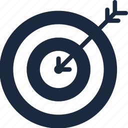 business, goal, success, target icon