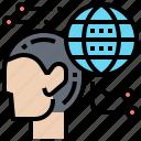 ability, communication, global, professional, skill icon