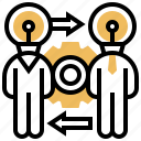 coaching, exchange, rotation, skill, transferring icon