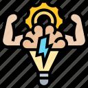 mind, power, ability, strength, efficiency icon