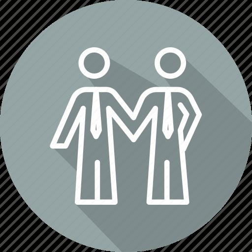 business, collaboration, motivation, partners, skills icon