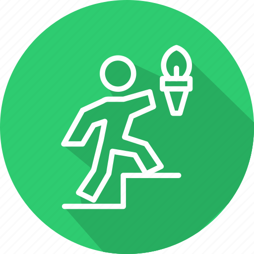business, leadership, motivation, of, skills, torch icon