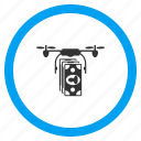 drone, innovation, money, multicopter, payment, quadrocopter, technology icon