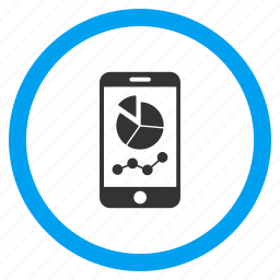 analysis, charts, diagram, graph, graphs, mobile report, telephone icon