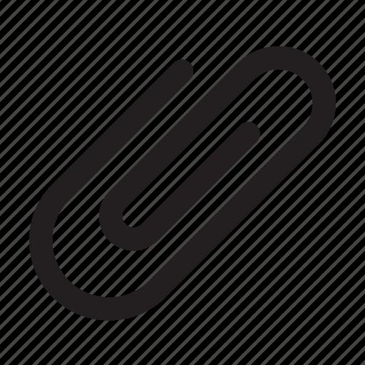 attach, attachment, paper clip icon