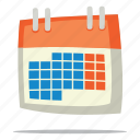 calendar, date, deadline icon