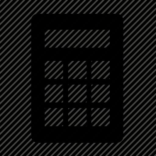 business, calculator, estimate, math, office icon