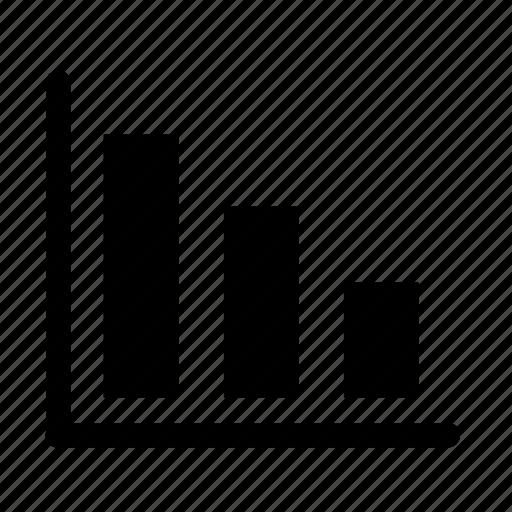 business, decrease, graph, office, profit icon