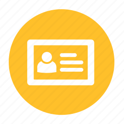 about, business, circle, id, identity, office, profile icon