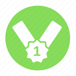 awards, business, circle, first, medal, office, rank icon