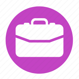 bag, business, circle, office, profile, work icon