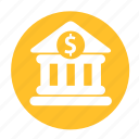 bank, business, circle, money, office, saving icon