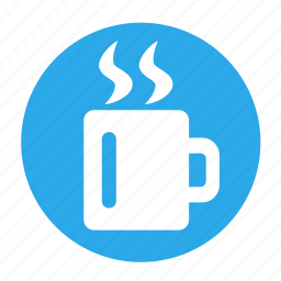 break, business, circle, coffee, office, rest icon