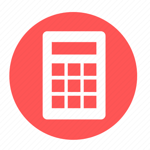 business, calculator, circle, estimate, math, office icon
