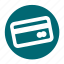 business, card, circle, credit, debit, office, payment icon
