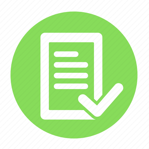 business, check, circle, document, office, paper icon