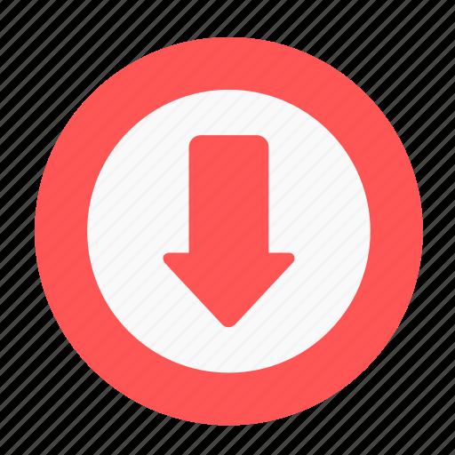 arrow business circle decrease download downside