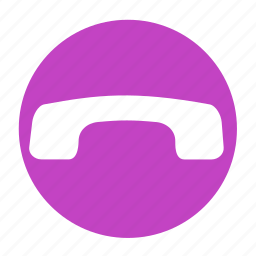 business, call, circle, downside, office, phone icon