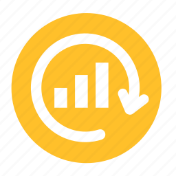 analytic, business, circle, cycle, graph, office, regraph icon