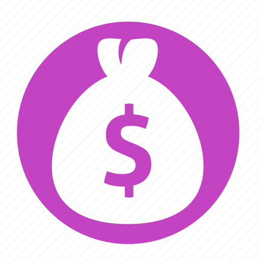 bag, business, circle, dollar, money, office icon