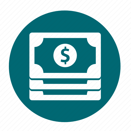 business, circle, dollar, income, money, office icon