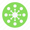 affiliate, business, circle, network, office, team, works icon