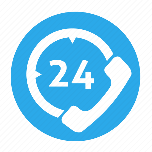 business, call, circle, customer, office, phone, support icon