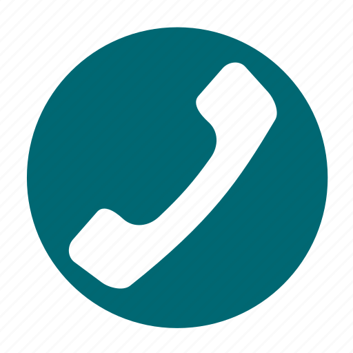 business, call, circle, hang, office, phone, up icon
