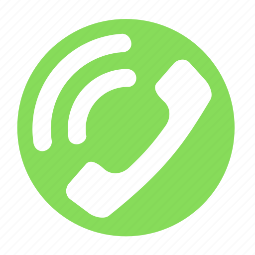 business, call, circle, hang, office, phone, ringing icon