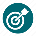 arrow, business, circle, office, plan, target icon