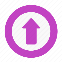 arrow, business, circle, increase, office, upload, upside icon