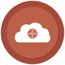 cloud, data, plus, storage, wheather icon