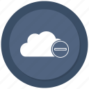 cloud, data, minus, storage, wheather icon